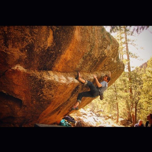 Rock Climbing Photo: Spencer Church on an early ascent of Smaug