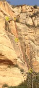 Rock Climbing Photo: View of the route from the switchbacks, the line r...
