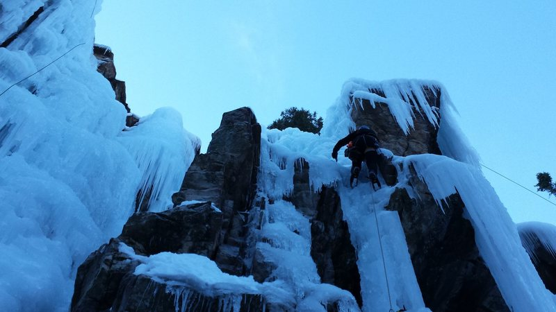 Mike C. Ouray Ice park Jan 2015.