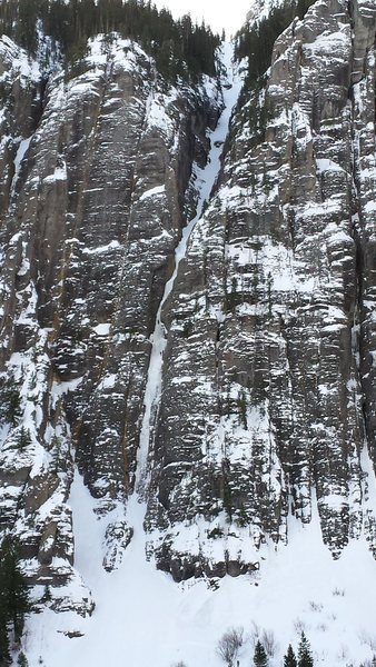 Climbers on The Ribbon - Ouray Jan 18th 2015.