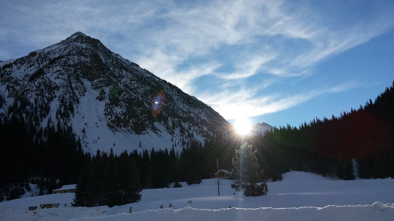 Silverton Colorado on a January morning.  2015.