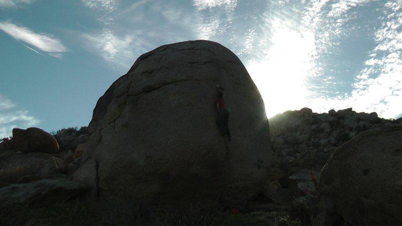 Rock Climbing Photo: Reaching for good hands.