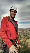 Rock Climbing Photo: The face of triumph after leading my first multi p...