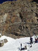 Rock Climbing Photo: Pitch one slants right to left above Sam in photo ...