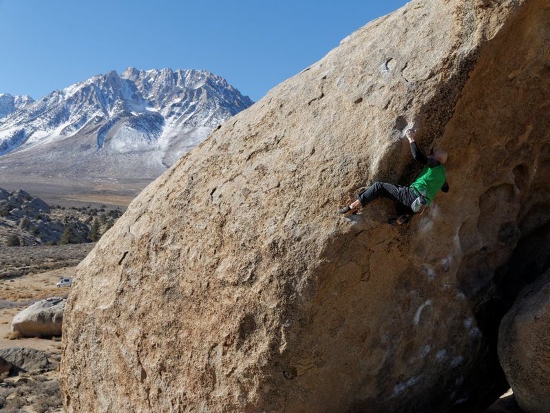 Rock Climbing Photo: One of the best problems in the Buttermilks IMO