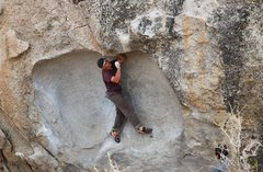 Rock Climbing Photo: This is a really weird problem.
