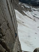 Rock Climbing Photo: Traversing in from the first pitch of Westside Sto...