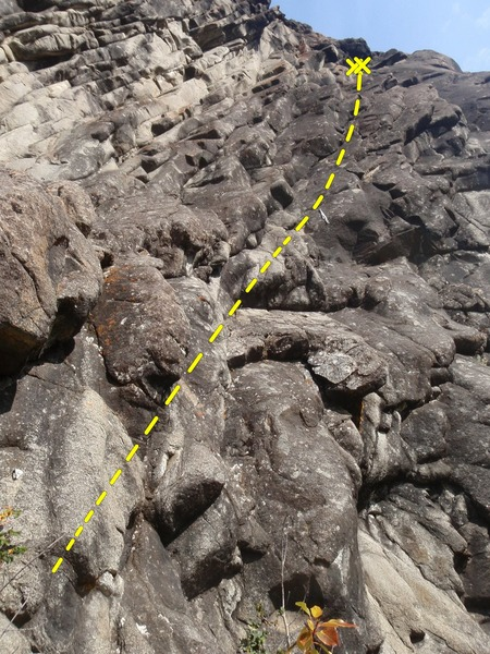 Rock Climbing Photo: First bolt is at chest height.