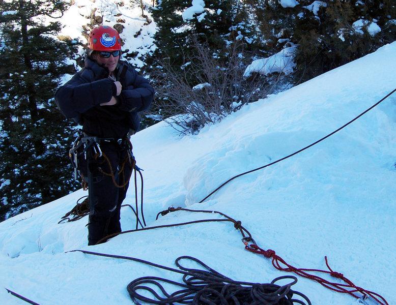 Rock Climbing Photo: Snowy rope