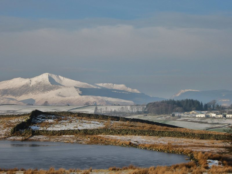 Causey Pike above the Newlands Valley winter 2015