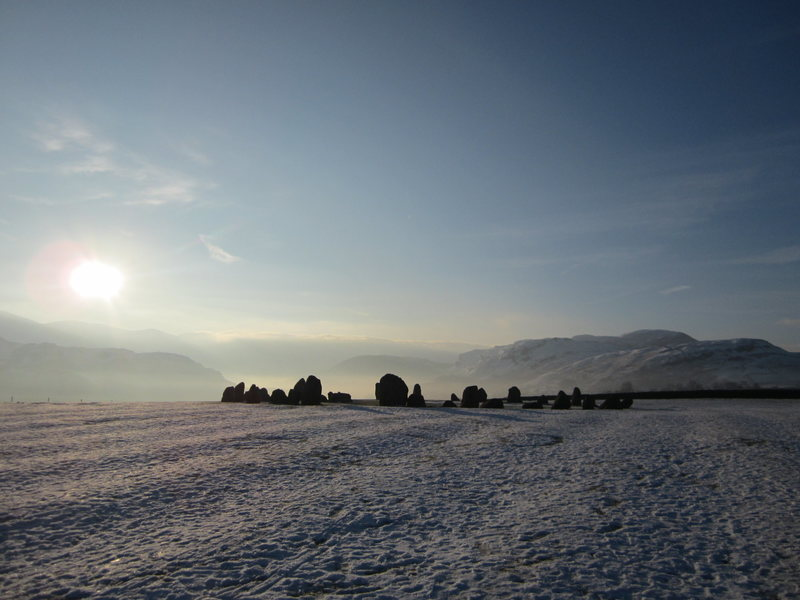 The 2000BC stone circle winter morning 2015. Located just outside  the town of Keswick.