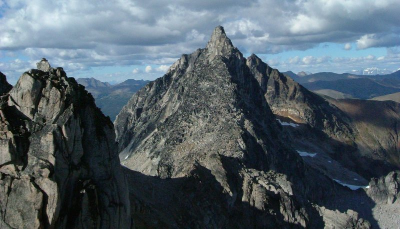 The south ridge of Brenta Spire, seen from the summit of the Crescent Towers