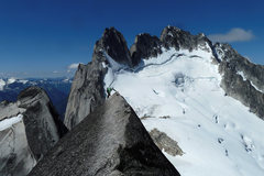 Rock Climbing Photo: Great exposure on the west ridge of Pigeon Spire
