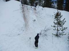 Rock Climbing Photo: even small slides - terrain trap