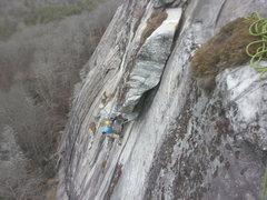 Rock Climbing Photo: Ben on pitch 2