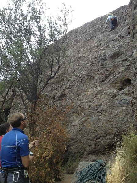 Rock Climbing Photo: view of route