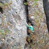 Lorena on her first route