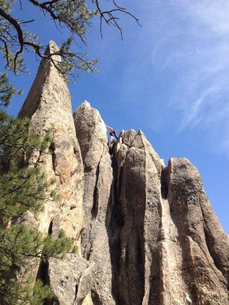 Rock Climbing Photo: Topping out at at Rushmore