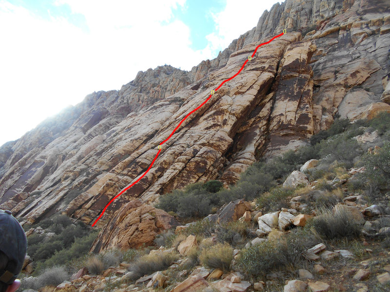 Rock Climbing Photo: First 4 Pitches of the Romanian Rib