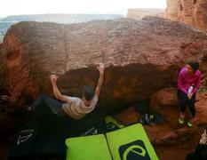 Rock Climbing Photo: Mat Rasband making the FA