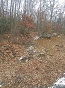 Rock Climbing Photo: The shortcut path up the hill, look for this on yo...