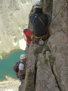 Rock Climbing Photo: 7th belay satation