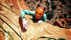 Rock Climbing Photo: C. Niggemyer busting out the mantle onto the tanni...