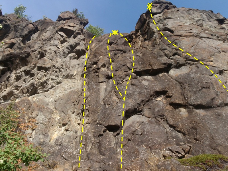 Rock Climbing Photo: This is the fun, moderate side of Wiener Lake.