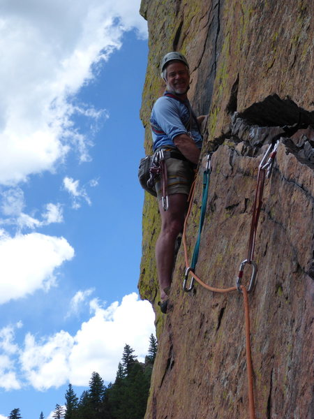 Rock Climbing Photo: On the rewritten traverse