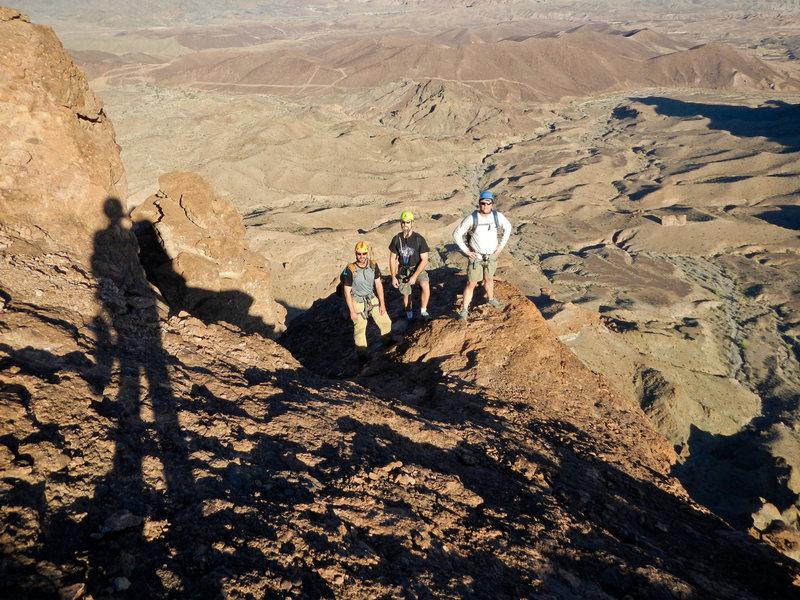 Heading to the summit of Picacho Peak in Arizona.