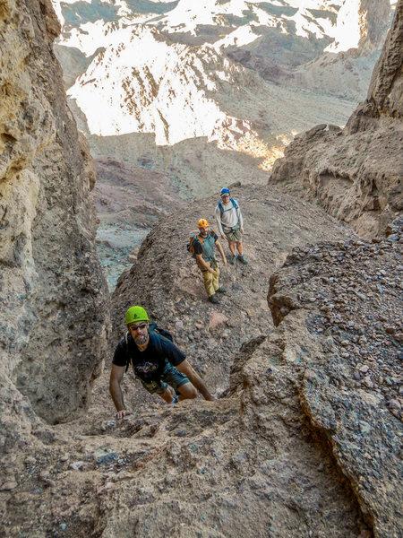 Rock Climbing Photo: Picacho Peak scramble one at a time.