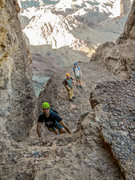 Rock Climbing Photo: Picacho Peak scramble one at a time.