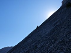 Rock Climbing Photo: Will running it out a few pitches above the top of...