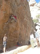 Rock Climbing Photo: Mike crushing. Awesome route!