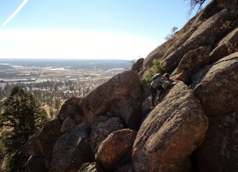 Rock Climbing Photo: Scrambling up the boulders before getting on the s...