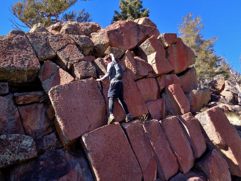 Rock Climbing Photo: Fun stuff to play on near the top