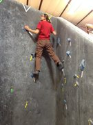 Rock Climbing Photo: Beta bouldering- Transverse right to left