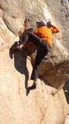 Rock Climbing Photo: Best move on the problem...hand-foot match! Daniel...