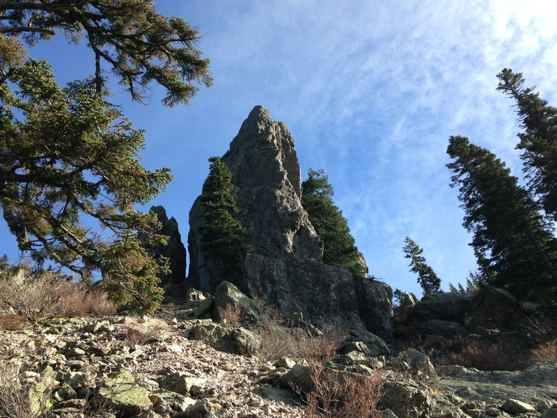 Arete on the left side of the west face.
