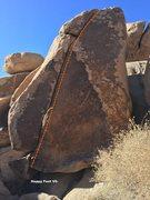 Rock Climbing Photo: Happy Feet Topo