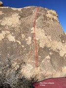 Rock Climbing Photo: Choc-o-Roach Topo
