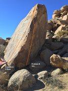 Rock Climbing Photo: Choc-o-Roach arete topo