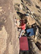 Rock Climbing Photo: Justin enjoying the features on Choc-o-Roach