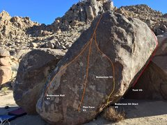 Rock Climbing Photo: Chocolate Boulder 2 Right Topo