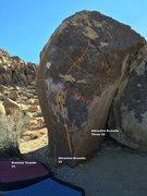 Rock Climbing Photo: The brunettes topo