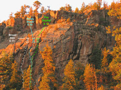 Rock Climbing Photo: Broad Axe photo topo.