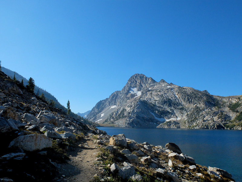 Rock Climbing Photo: Sawtooth Lake, beneath Mt. Regan.