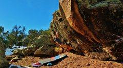 Rock Climbing Photo: Making the cross on Bikini Jones and The Termite S...