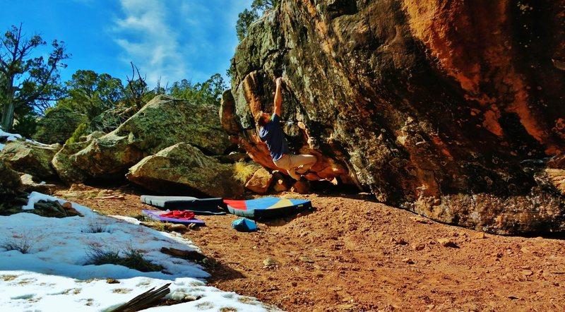 Rock Climbing Photo: Sticking the first move on Bikini Jones and The Te...