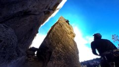 Rock Climbing Photo: Red Dog 5.9 Lead Spirt on the Mencise Prow crag. V...
